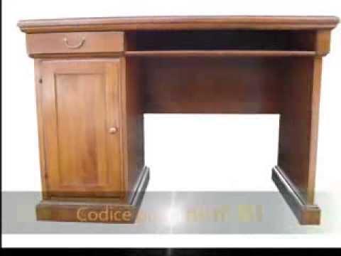 Scrivania scrittoio classico in legno massello for Scrivania legno