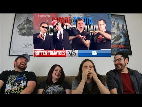Rotten Tomatoes Vs. Team IGN REACTION - Movie Trivia Schmoedown