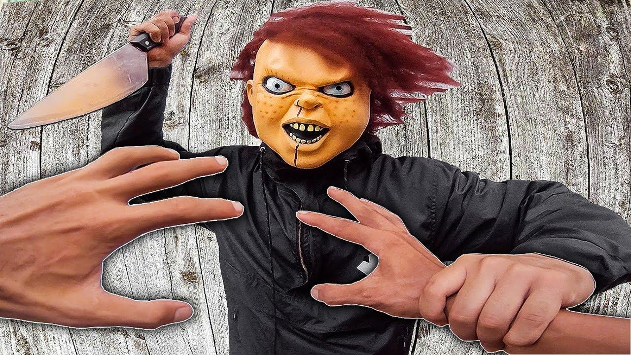 PARKOUR POV vs CRAZY CHUCKY   Halloween Movie   Đừng Chạm Vào Nó