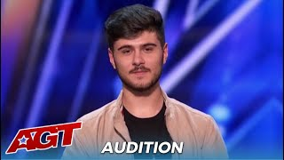Luca Di Stefano: The Judges Can NOT Beileve The Voice Coming out Of His Mouth!
