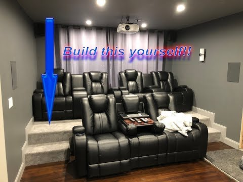 DIY HOME THEATER RISER | Build your own Movie Room Seating P