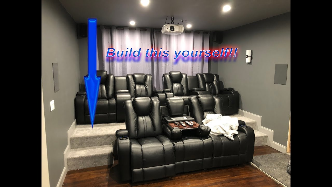 Diy Home Theater Riser Build Your Own Movie Room Seating Platform And Easy