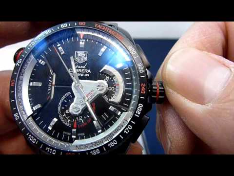a9b669aeba8 Tag Heuer CAV5185 Gran Carrera cal 36. how to adjust time