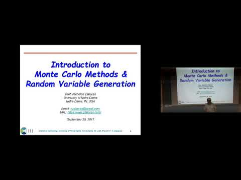 Lecture 13. Introduction to Monte Carlo Methods and Random Variable Generation