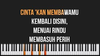 Download lagu Dewa 19 - Cintakan Membawamu Kembali Piano Karaoke Lyrics