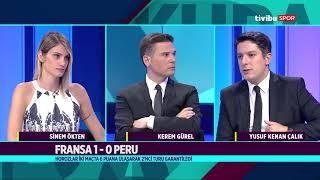 Dünya Kupası Ekranı   Fransa 1-0 Peru, Danimarka 1-1 Avustralya