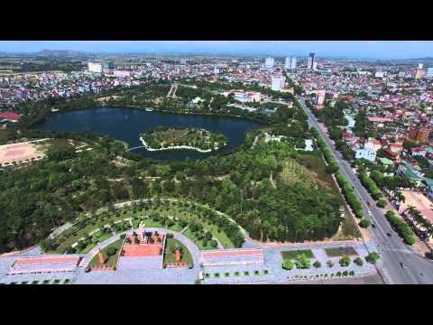 Hochiminh square, Vinh city by Phantom 3 with 4k camera