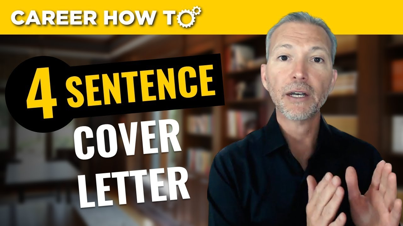 The 4 Sentence Cover Letter That Gets You The Job Interview - YouTube
