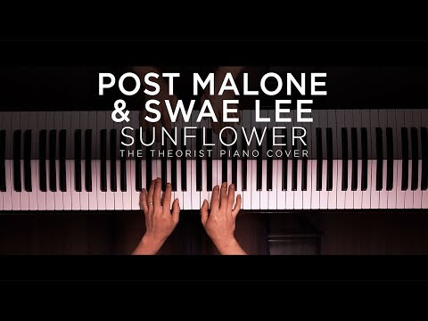 Post Malone & Swae Lee - Sunflower  The Theorist Piano Cover