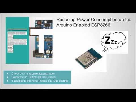 Reducing Power Consumption on the Arduino Enabled ESP8266
