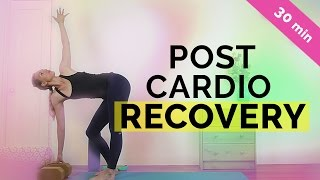 Post Cardio Recovery: Yoga For Runners | Cool Down Yoga Sequence (30-min) All Levels