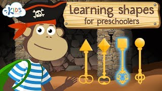 Learning Shapes For Kids Shapes For Toddlers, Preschoolers and Kindergarten Kids