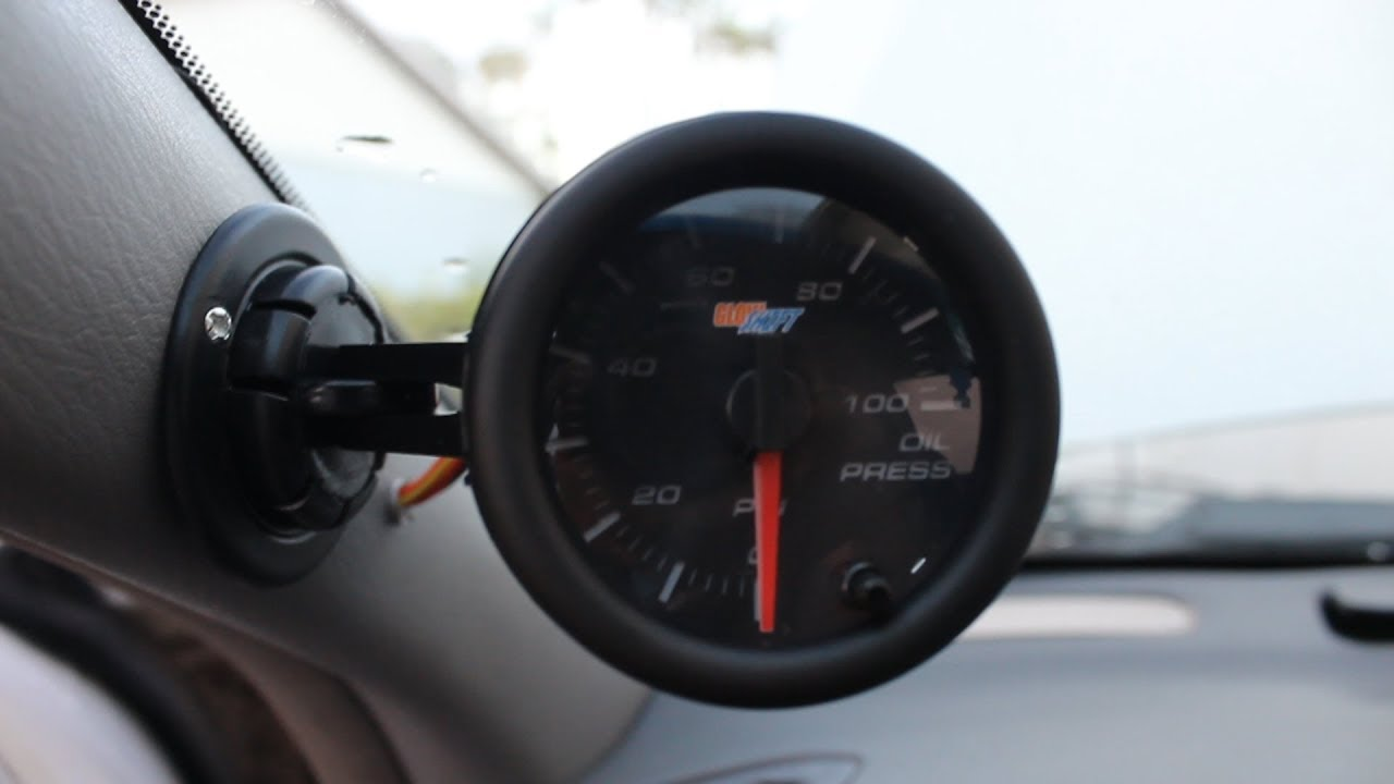 how to install a glowshift oil pressure gauge [ 1280 x 720 Pixel ]