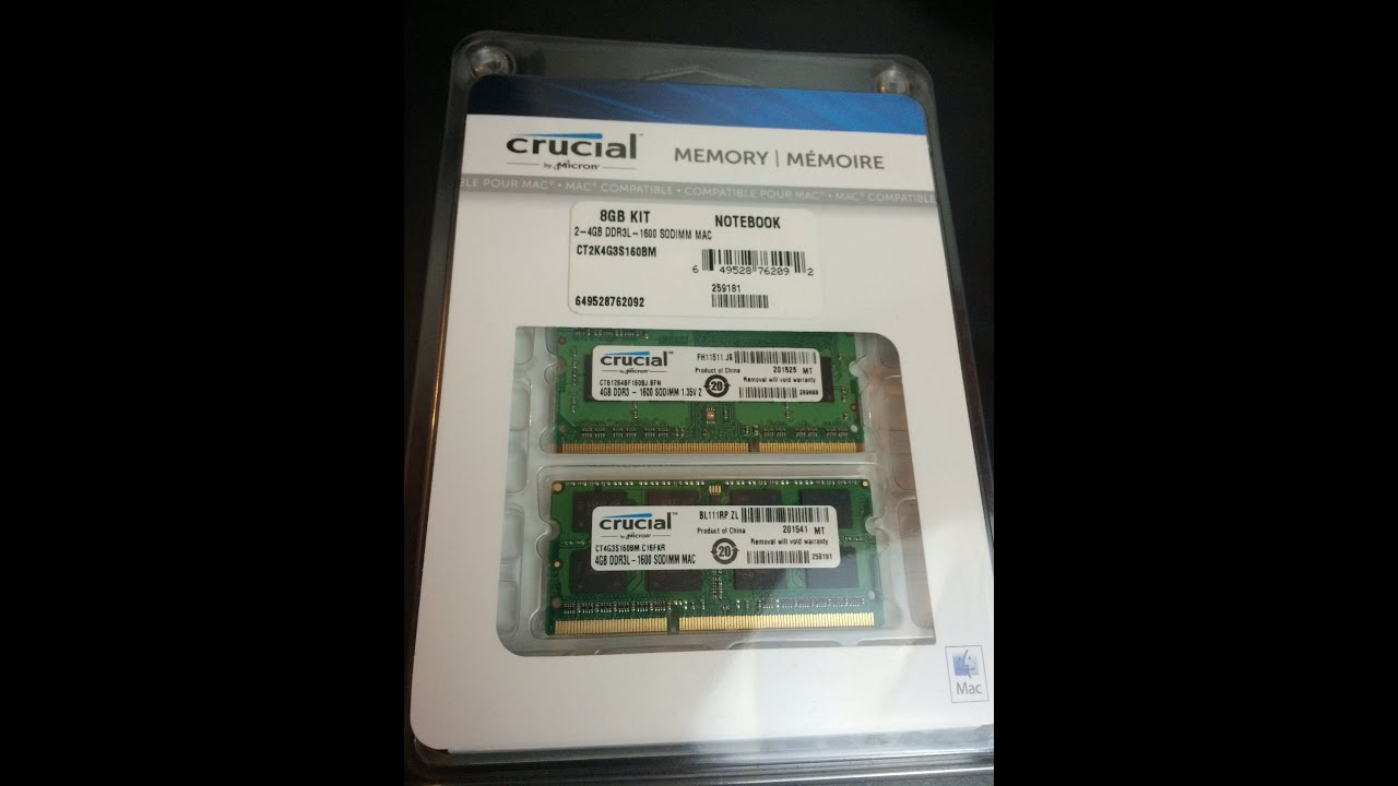 Crucial Laptop Memory 2x4gb Review Youtube 4gb