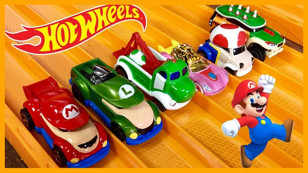 hot wheels super mario character cars 6 set race review. Black Bedroom Furniture Sets. Home Design Ideas