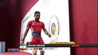 ASKARI Majid 2j 165 kg cat. 62 World Weightlifting Championship 2013