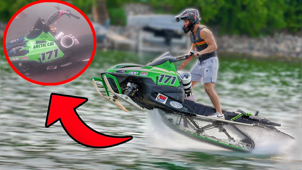 Snowmobile Sinks to Bottom of the Lake *Recovery Mission*