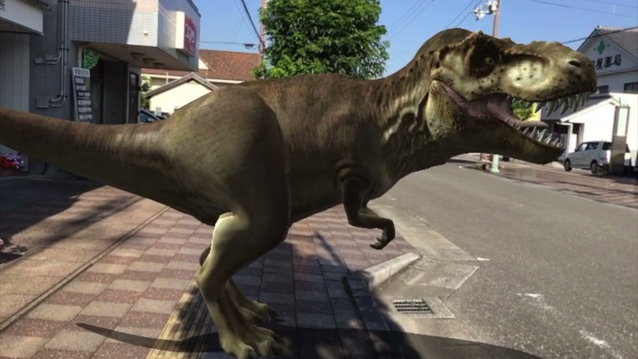D-141 拡張現実・恐竜が目の前に!(There was a dinosaur!)