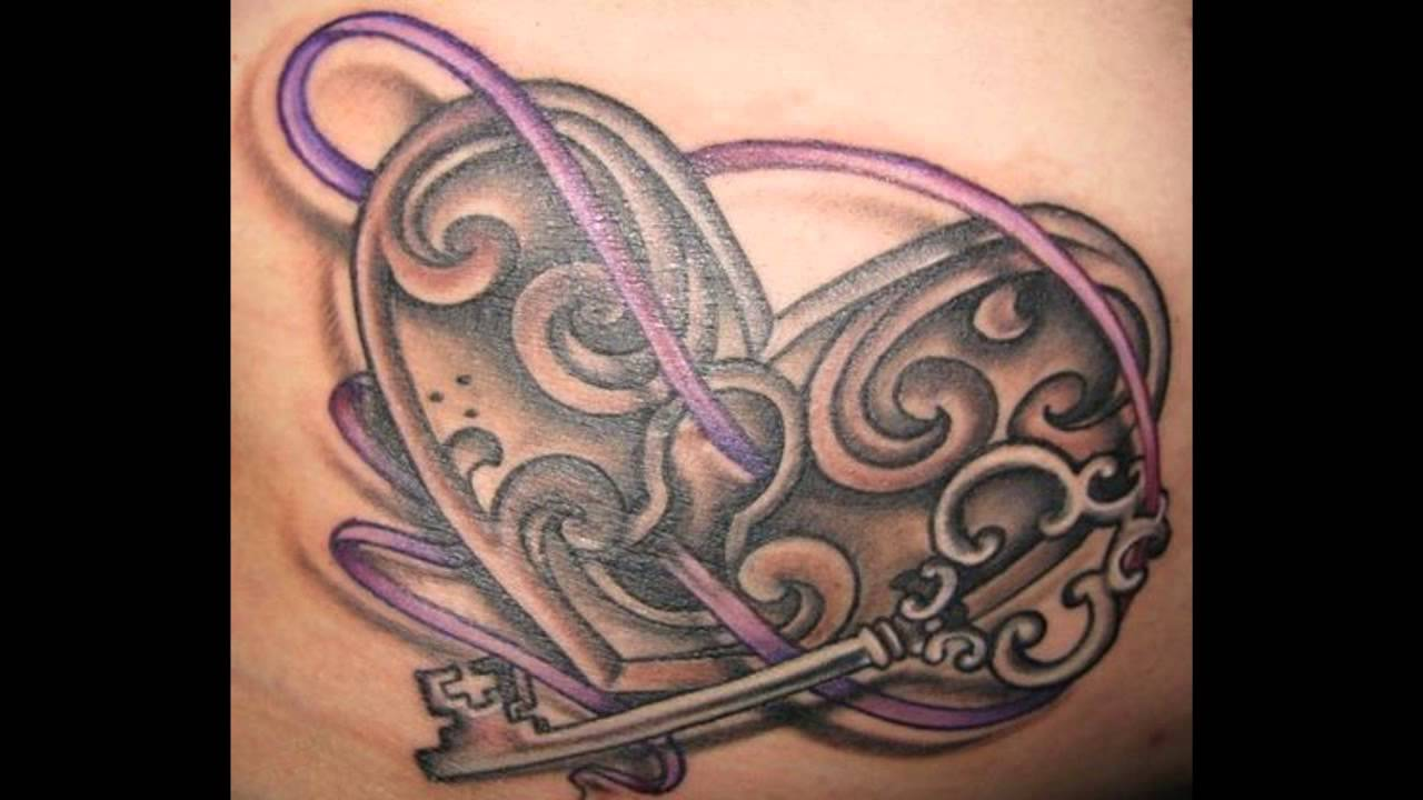 Lock And Key Tattoos For Couples - YouTube