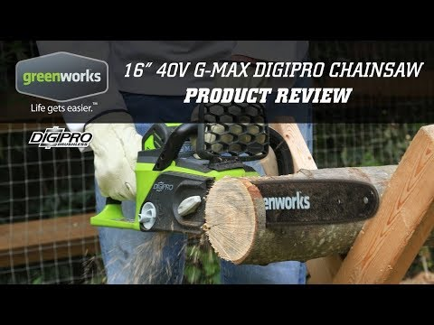 "Part 2 My first cordless chainsaw, Greenworks G-MAX 40V, 16"" Review"