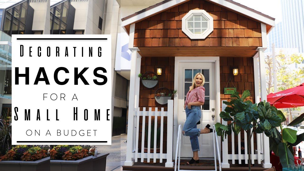INTERIOR DESIGN | Tiny Home Hacks | Decorating a Small Apartment & INTERIOR DESIGN | Tiny Home Hacks | Decorating a Small Apartment ...