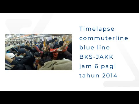 senin pagi di commuterline Bekasi - Jakarta Kota 🚂🚋🚋🚋🚋
