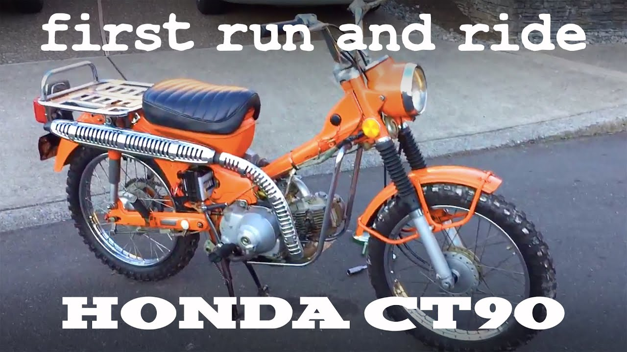 1972 Honda CT90 Trail Motorcycle - first run and ride ...