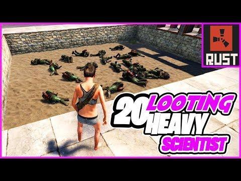 Looting 20 Heavy Scientist : RUST