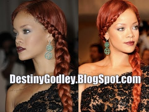 Trendy Hairstyles For Young Women: Messy Side Braid