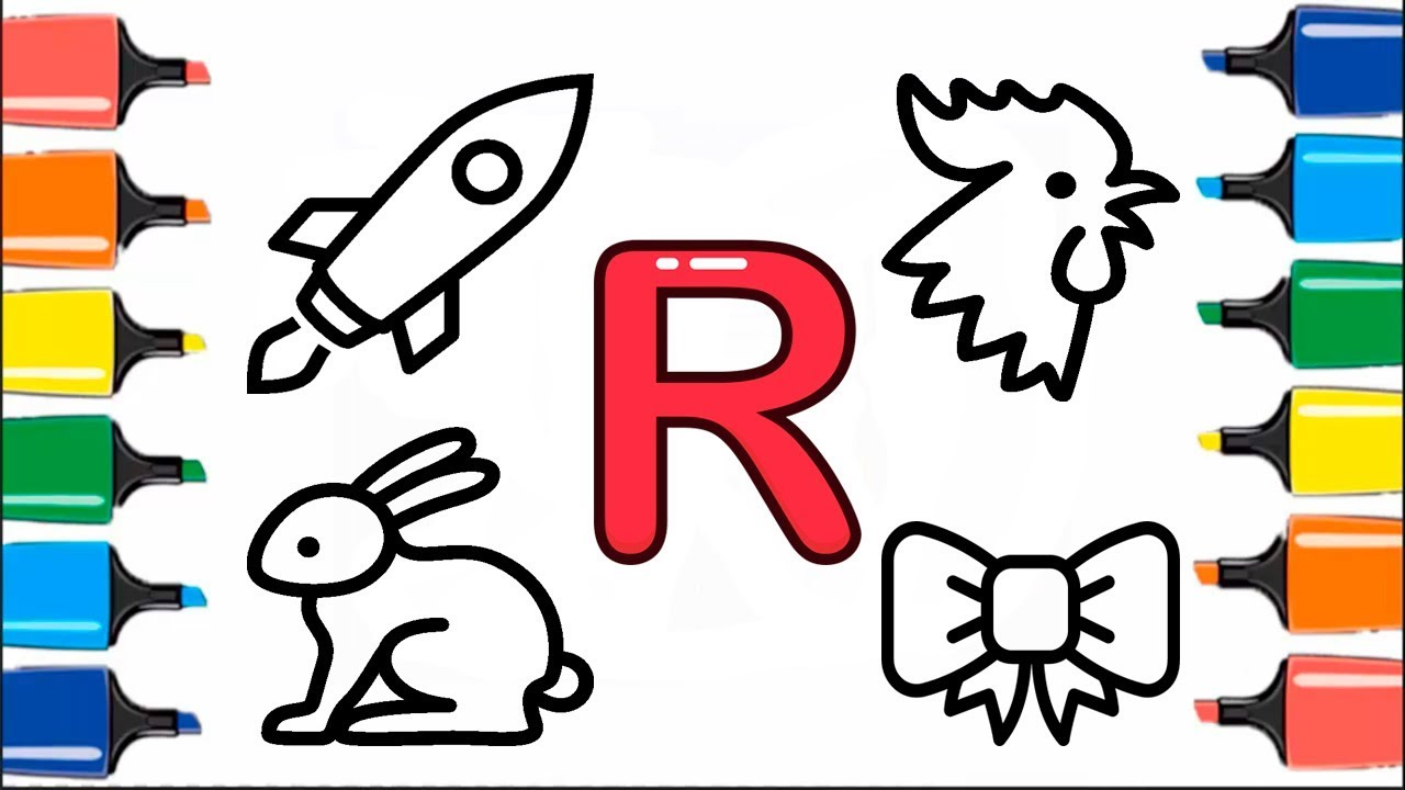 Modern Letter R Coloring Sheets Collection - Drawing Coloring ...
