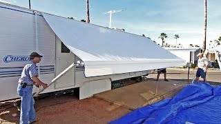 RV Awning Replacement - Tough Top Awnings Discount Code RVGEEKSROCK - 5% Off Your Entire Order