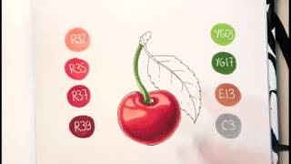 Простой видеоурок спиртовыми маркерами copic для новичков