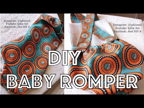🧵✂️HOW TO MAKE A BABY ROMPER|TUTORIAL|IPHIE ANI 🧵✂️