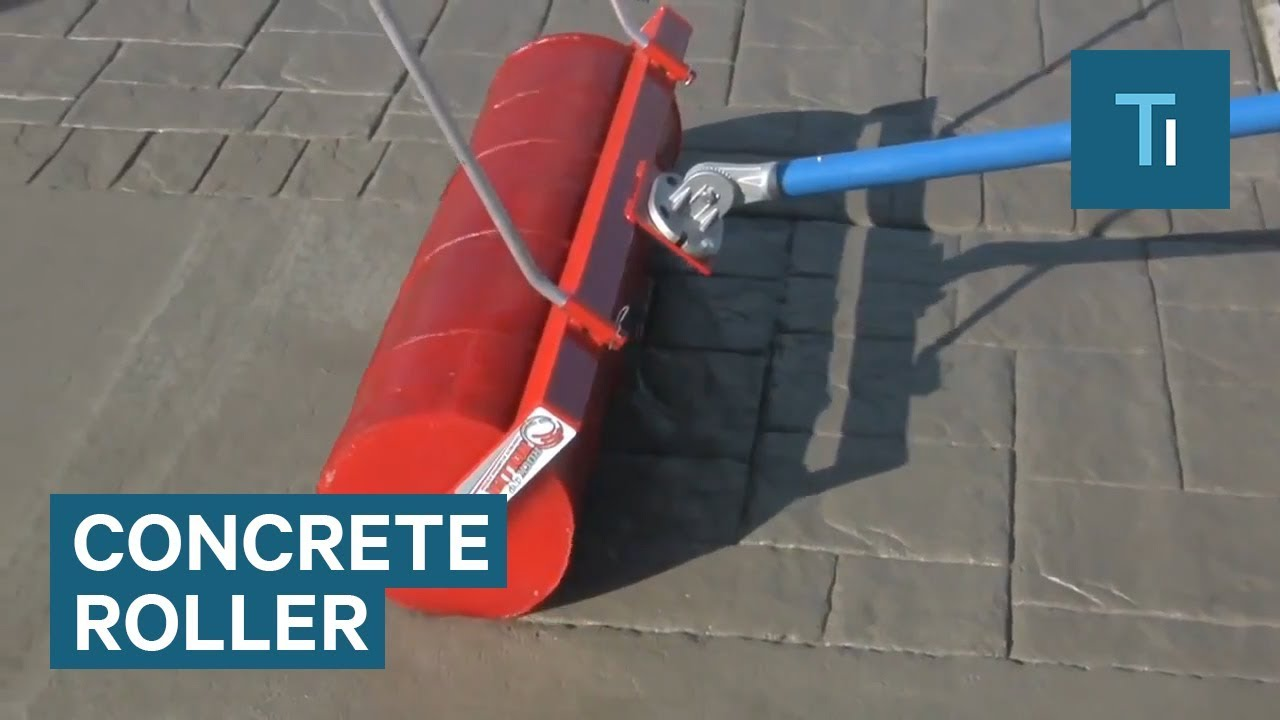 Roller Makes Plain Concrete Look Like Brickwork Youtube
