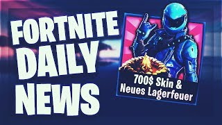 Fortnite Daily News 'NEUES' CAMPFIRE ' 700$ SKIN (23 Januar 2019)