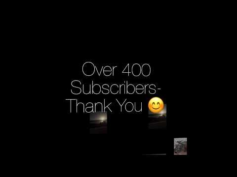 400 Subscribers! Thanks a million 👍😊✈️