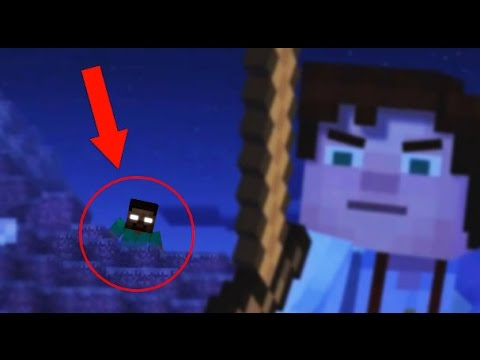 Thumbnail: Minecraft: Story Mode HEROBRINE SIGHTING!? (Herobrine Appearance in Minecraft Story Mode?)