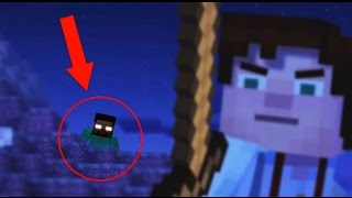 minecraft story mode herobrine sighting herobrine appearance in minecraft story mode