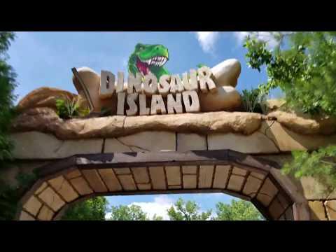 Columbus Zoo Dinosaur Island Boat Ride and Walkthrough 2017 Version