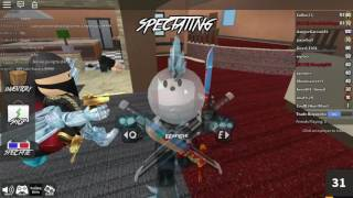 ROBLOX Playing with dinopig/ clockwork pyro in murder mystery