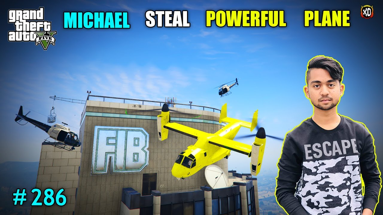 STEAL POLICE COMMISSIONER PLANE FROM FIB BUILDING | CAYO PERICO BOSS ATTACK ON US |GTAV GAMEPLAY#286