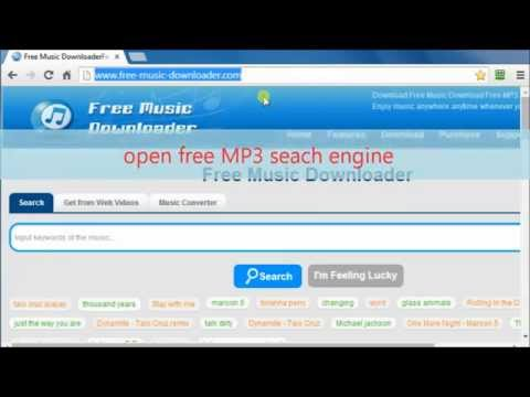 How to free search and download music to computer