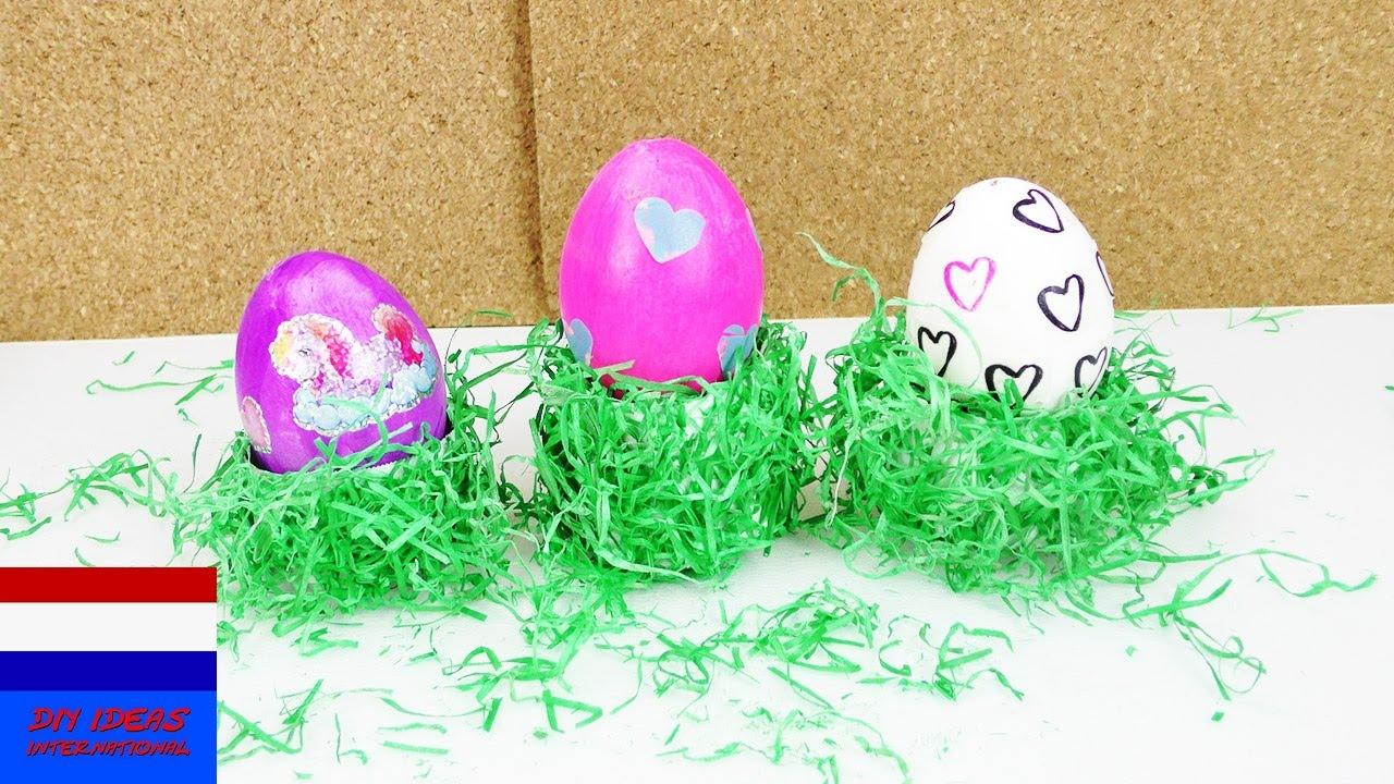 zelf eierdopjes met paasgras maken voor pasen paascadeau