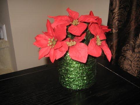 DIY CHRISTMAS FLOWER ARRANGEMENT/CRAFT IDEA/DOLLAR TREE DIY/EASY DIY