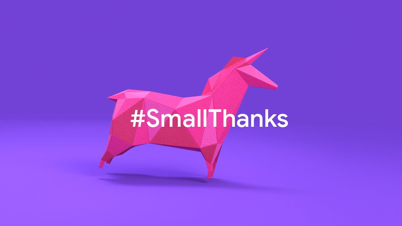 A #SmallThanks from us to you