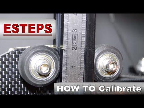 TEVO Tarantula 3D printer - ESTEPS How to calibrate step-by-step
