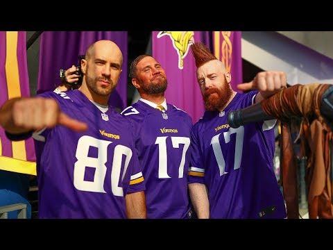 WWE Stars Lead The Skol Chant, Sound The Gjallarhorn