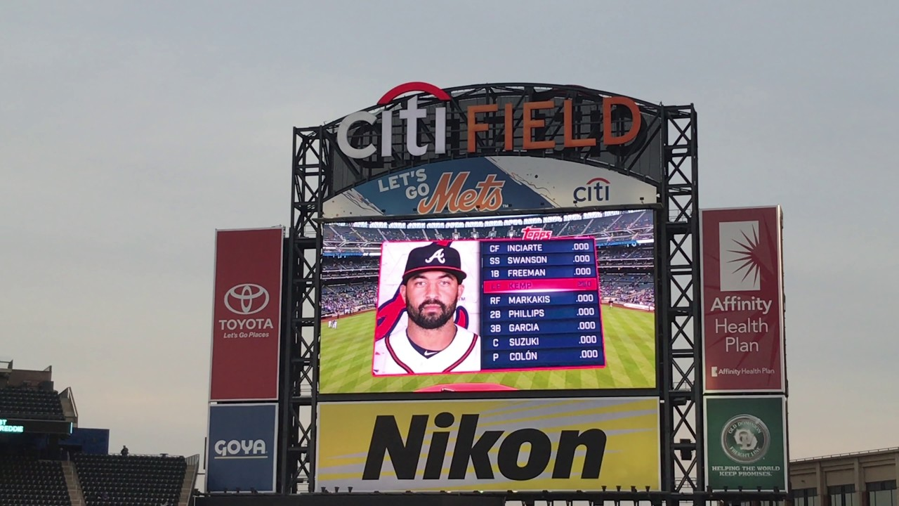 New York Mets, Atlanta Braves announce Saturday lineups