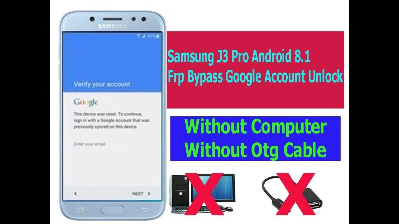 How To Reset Samsung J3 Google Account BYPASS GOOGLE Account