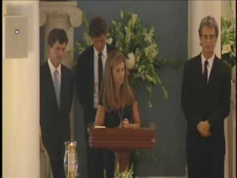 The funeral of Eunice Kennedy Shriver